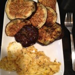 Weekend Breakfast: Eggplant and Scrambled Eggs