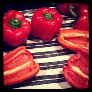 Lovely Red Peppers ready to roast