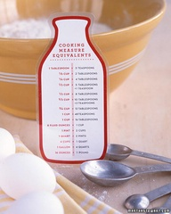 Magnetic Kitchen Measure Chart (from Martha Stewart)