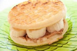 Waffle Nut Butter Banana Sandwich