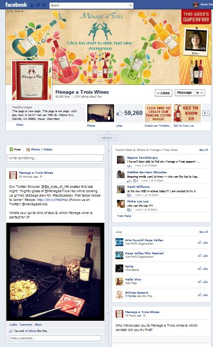 Facebook love from my beloved Menage a Trios