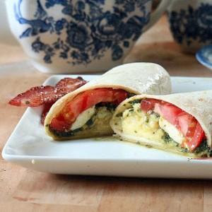 Caprese Breakfast Wrap