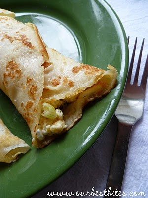 Feta Egg Scramble Breakfast Wrap from OurBestBites.com garlic, basil ...