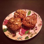 Protein Pumpkin Bran Muffins with Walnuts & Raisins
