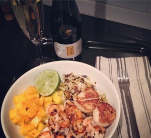 Mexican Scallop Salad with Prosecco